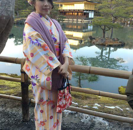 [ 2017一個人的京阪神 ] Day2-京都-穿和服逛世界遺產金閣寺,撼動人心的美景,拍照一定要抓緊時機