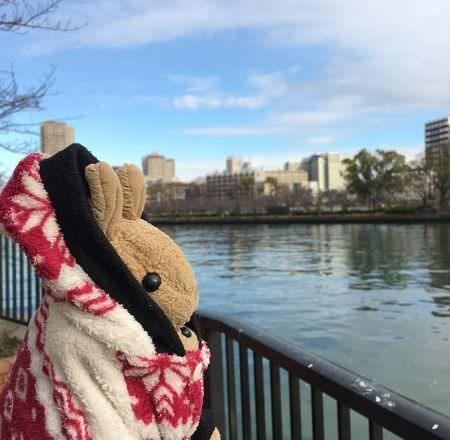 [ 2017一個人的京阪神 ] Day5-大阪-大阪帝國飯店雍容華貴早餐超高級,帶咪咪河岸吹風散步