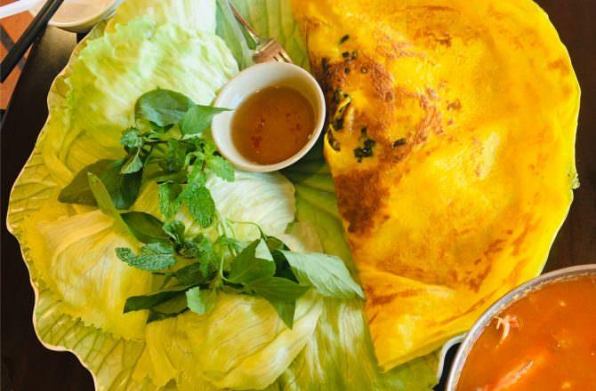 [ 食,新北 ] 越南小棧,新北市三芝美味越南菜餐廳,餐點樣樣都美味,推薦薑黃餅、泰式海鮮鍋、煆醬高麗菜